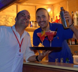 Juan Alfonso & Andres in cocktail bar