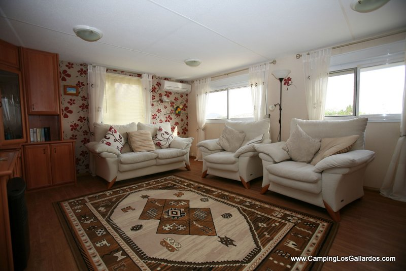 A sample living room from one of our mobile homes
